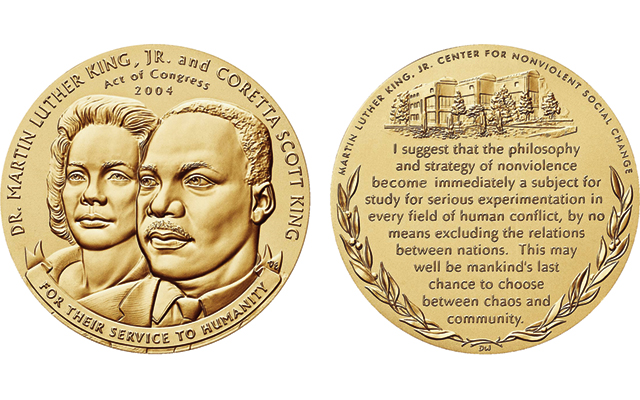 The Rev. Dr. Martin Luther King Jr. and Coretta Scott King congressional gold medal presented June 24