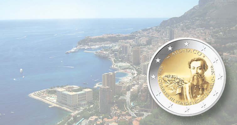 Monaco marks 150th anniversary with circulating ringed-bimetallic €2 coin