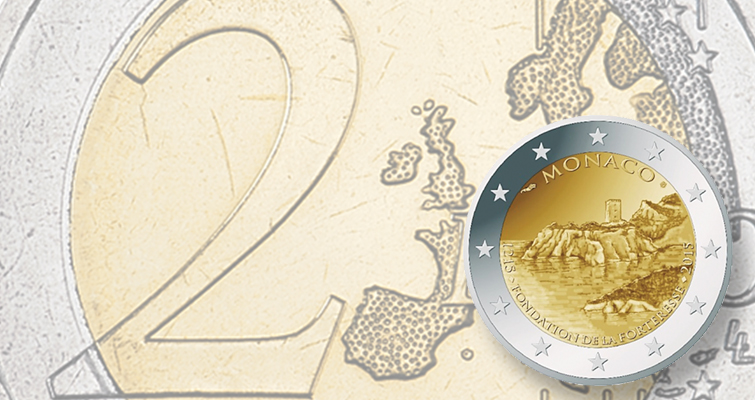 Monaco issues €2 coin for Prince's Palace anniversary this year