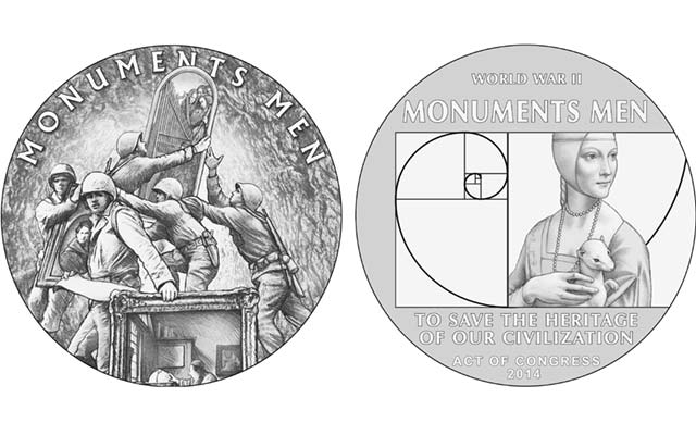 Monuments Men receive due during medal design process