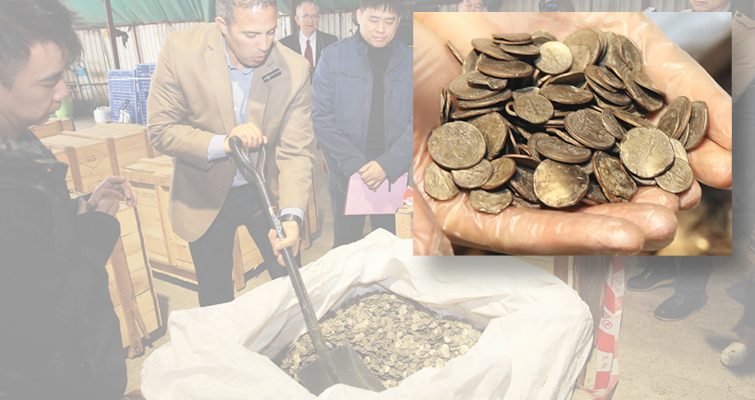 Wealthy Max publicly unseals 13 metric tons of mutilated coins