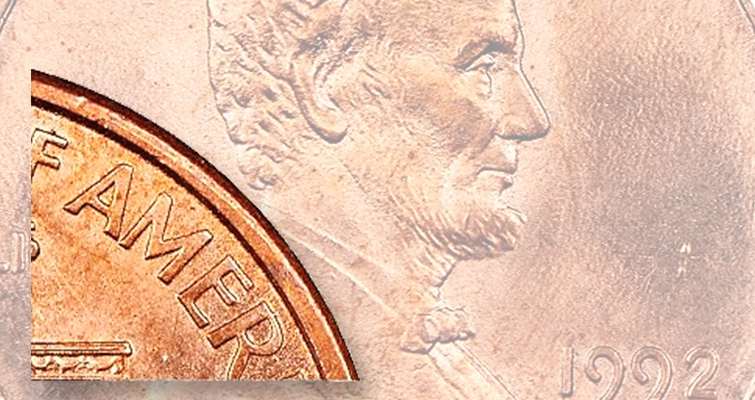 1992-D Close AM Lincoln cent