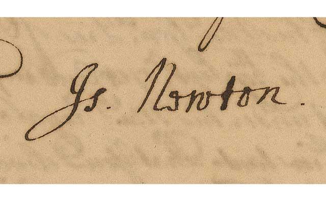 newton-signature