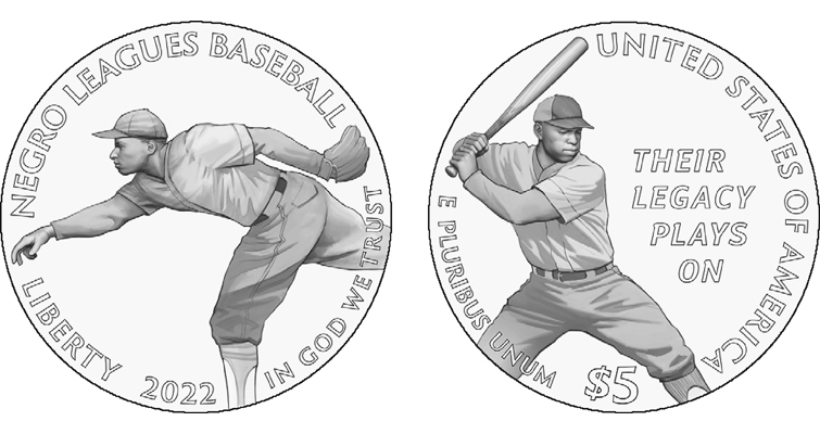 Negro Baseball League clad half dollar