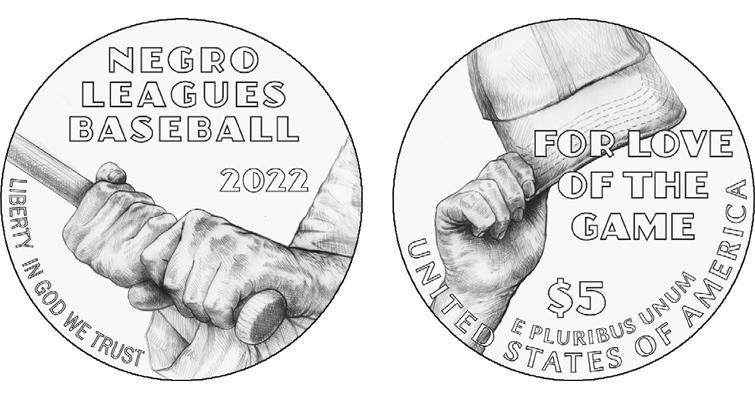 Gold Negro Baseball League coin
