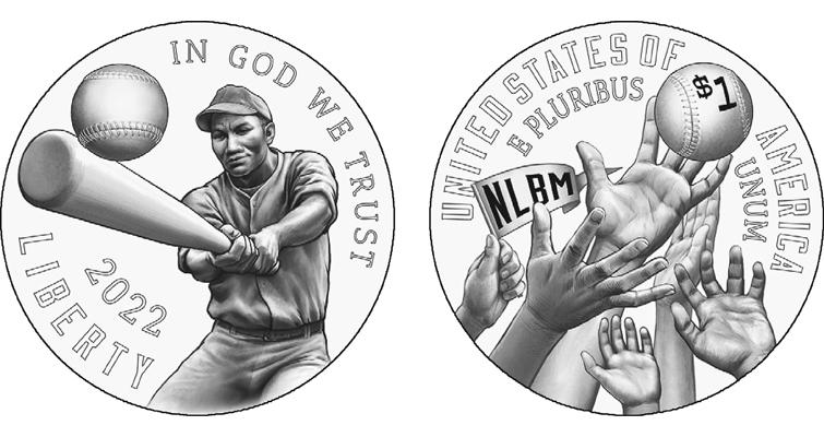 Negro Baseball League silver dollar