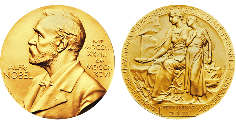 Two Nobel Prize gold m...
