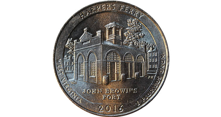 Normal Harpers Ferry quarter dollar