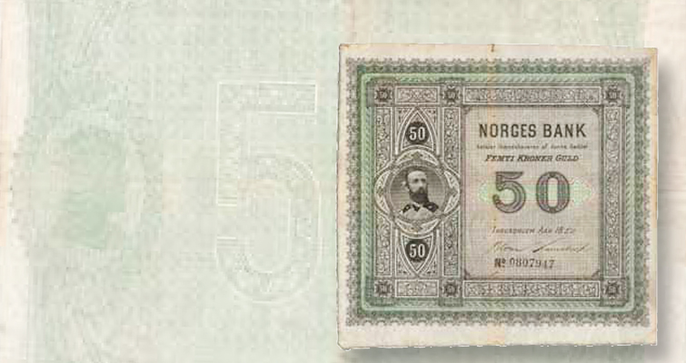 50-krone note of King Oscar II