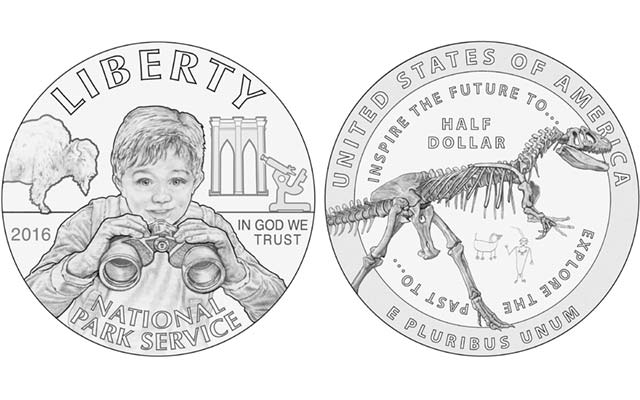 Dinosaur design possible on National Park Service half dollar commemorative
