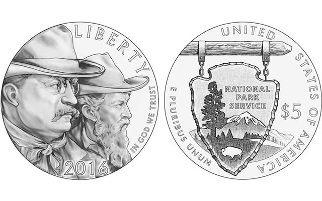 National Park Service commemorative coin designs, Part 1: gold $5 coin