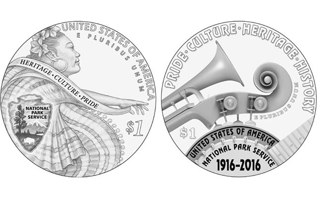 National Park Service commemorative coin designs, Part 2: silver dollar