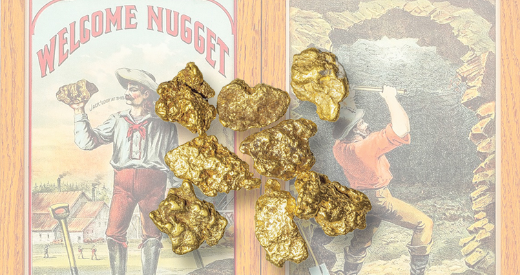 Gold nuggets plentiful in April auction by Holabird Americana