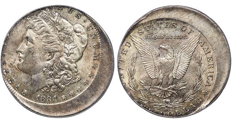 1884-O Morgan dollar off-center