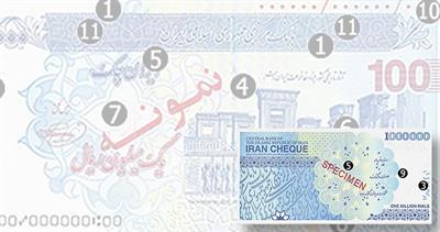 Iranian cheque