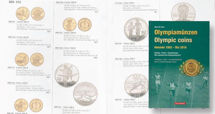 German publisher releases catalog of Olympic coins from author Albert Beck