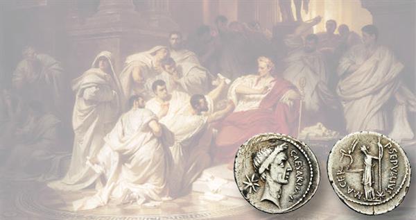 painting-julius-caesar-silver-portrait-denarius-january-february-44-b-c