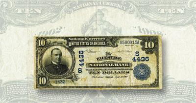 Palestine National Bank note from 1902