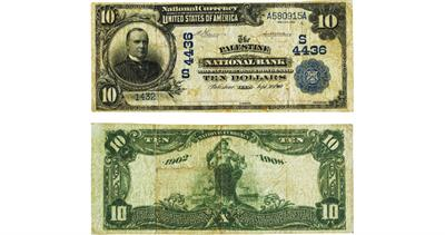 Palestine Texas National bank note