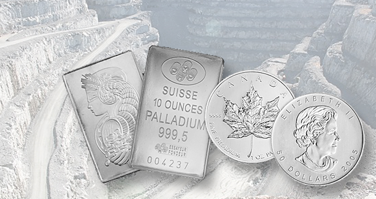 What does research firm say about investing in coins struck in palladium?