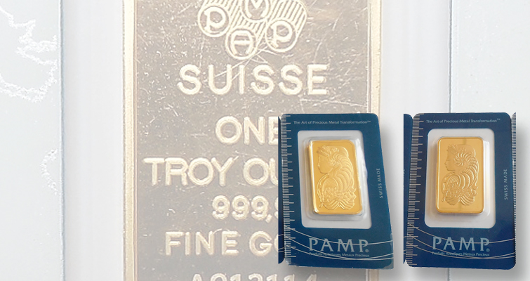 Counterfeiters target 1-ounce gold PAMP bars, packaging