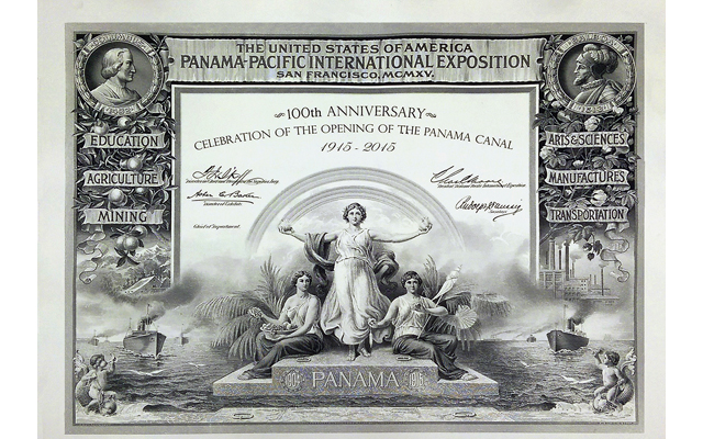 Panama-Pacific International Exposition certificate on sale July 9 from BEP