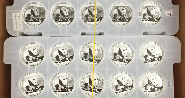 Here's what a big box of silver Panda coins looks like: Something Social