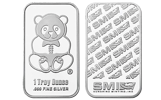 American Firm Issues Panda Silver Bullion Bars In Two Sizes