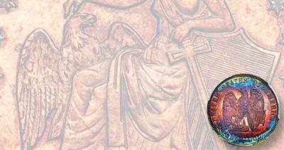 1872 Amazonian copper pattern quarter dollar