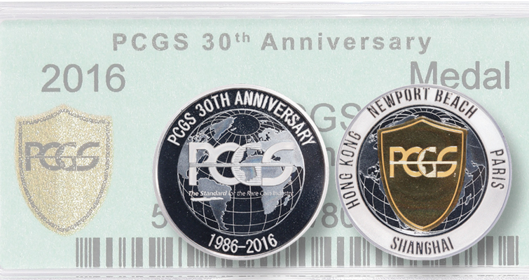 Professional Coin Grading Service celebrates 30th with limited-edition medal