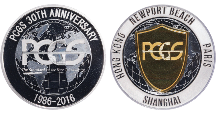 PCGS 30th anniversary commemorative medal merged