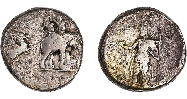 silver Greek decadrachm from the ANS Collection