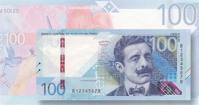 Peru new 100-sol note