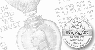 Purple Heart gold coins