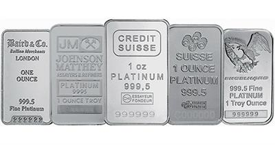 Platinum bullion bars