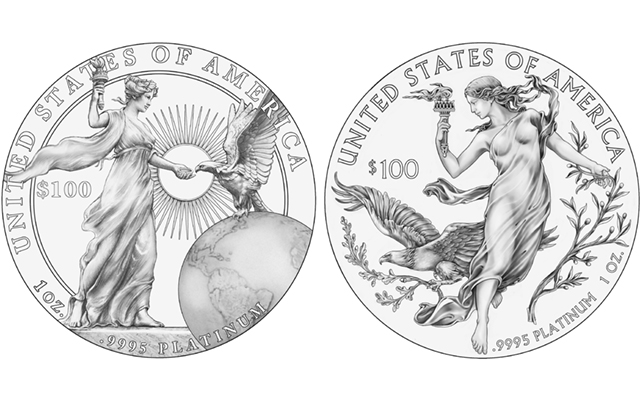 U.S. Mint withdraws CCAC's favored design for platinum Proof American Eagle coin