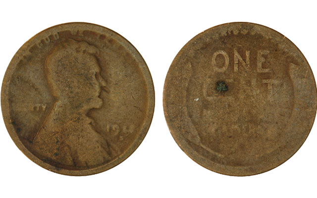 On this Lincoln, Wheat reverse cent found in a recent day's change, the date is essentially illegible and both sides of the coin are worn pretty smooth. That leaves the possibility the coin was minted in a very special year. What year would you like to imagine?