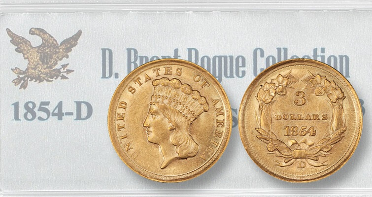MS 1854-D Indian Head gold $3 coin breaks estimate: Market Analysis