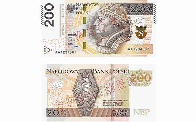 Upgrade of Polish notes to be completed with 200-zloty issue's release in 2016