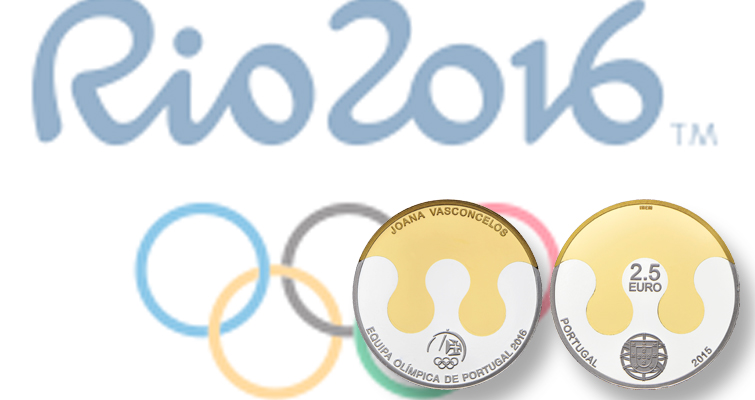 Portugal strikes coins for 2016 Rio Olympics with special methods