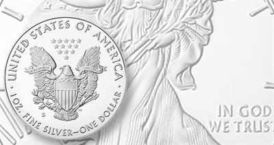 Proof 2020-S American Eagle silver dollar