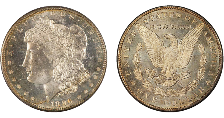 Prooflike 1896-S Morgan dollar obverse and reverse