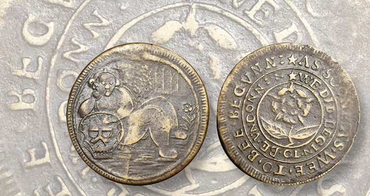 Raleigh Plantation token from 1584
