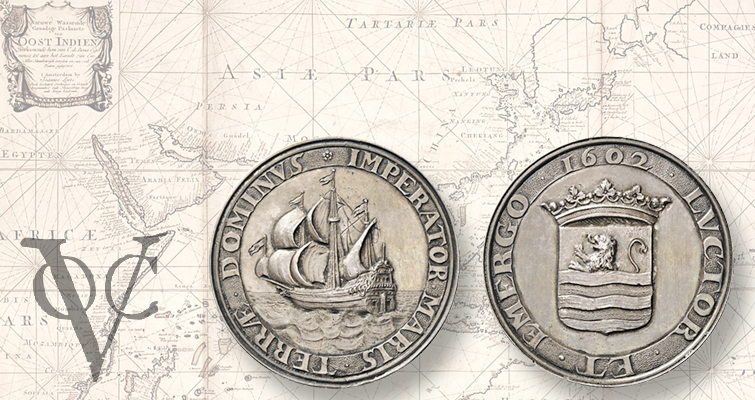 Dutch East India company medal offered in Nomos Auctions May 22