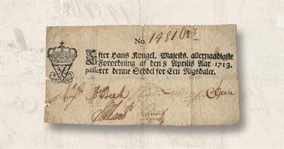 Denmark original bank note
