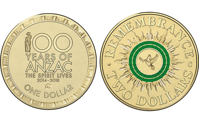 Australia issues colorful circulating $2 coin to mark Remembrance Day