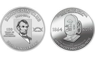 Reno Coin Club Celebrates Its 30th Anniversary With Medals