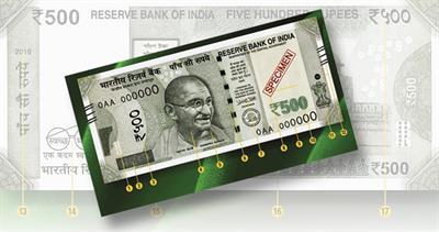 Counterfeit 500-rupee notes