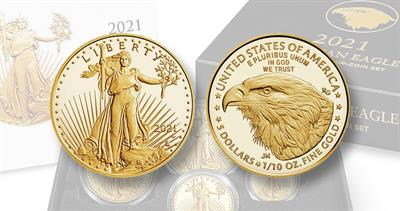 Reverse of 2021 one tenth ounce Eagle