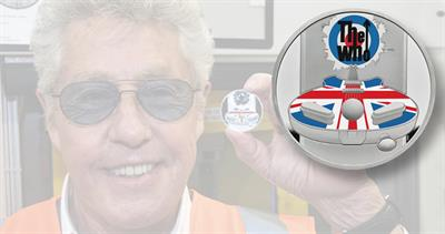 Royal Mint Who coin with Roger Daltrey